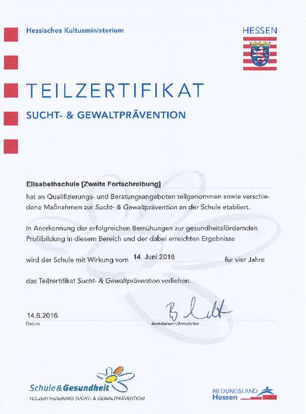 Elisabethschule Marburg: Prävention